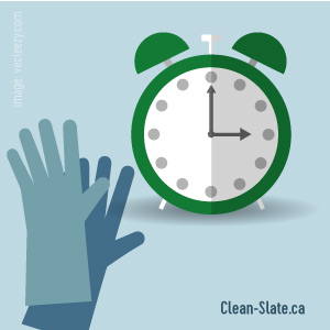 clock and gloves cleaning